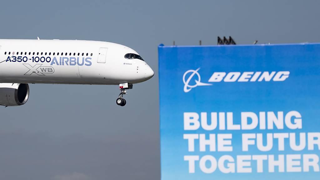 Die beiden Flugzeugbauer-Rivalen Boeing und Airbus standen im Zentrum des Konflikts, der zur gegenseitigen Erhebung von Strafzöllen zwischen den USA und der EU geführt hat. Jetzt ist ein entscheidender Durchbruch gelungen. (Symbolbild)