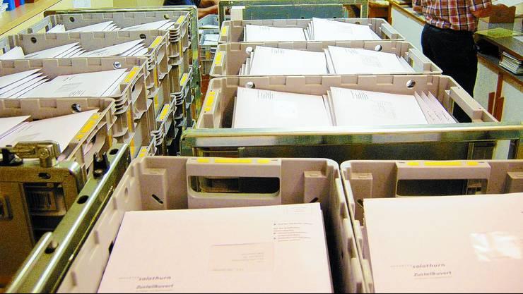 Die Wahlunterlagen scheinen bei der Poststelle in Dulliken verloren gegangen zu sein. (Symbolbild)