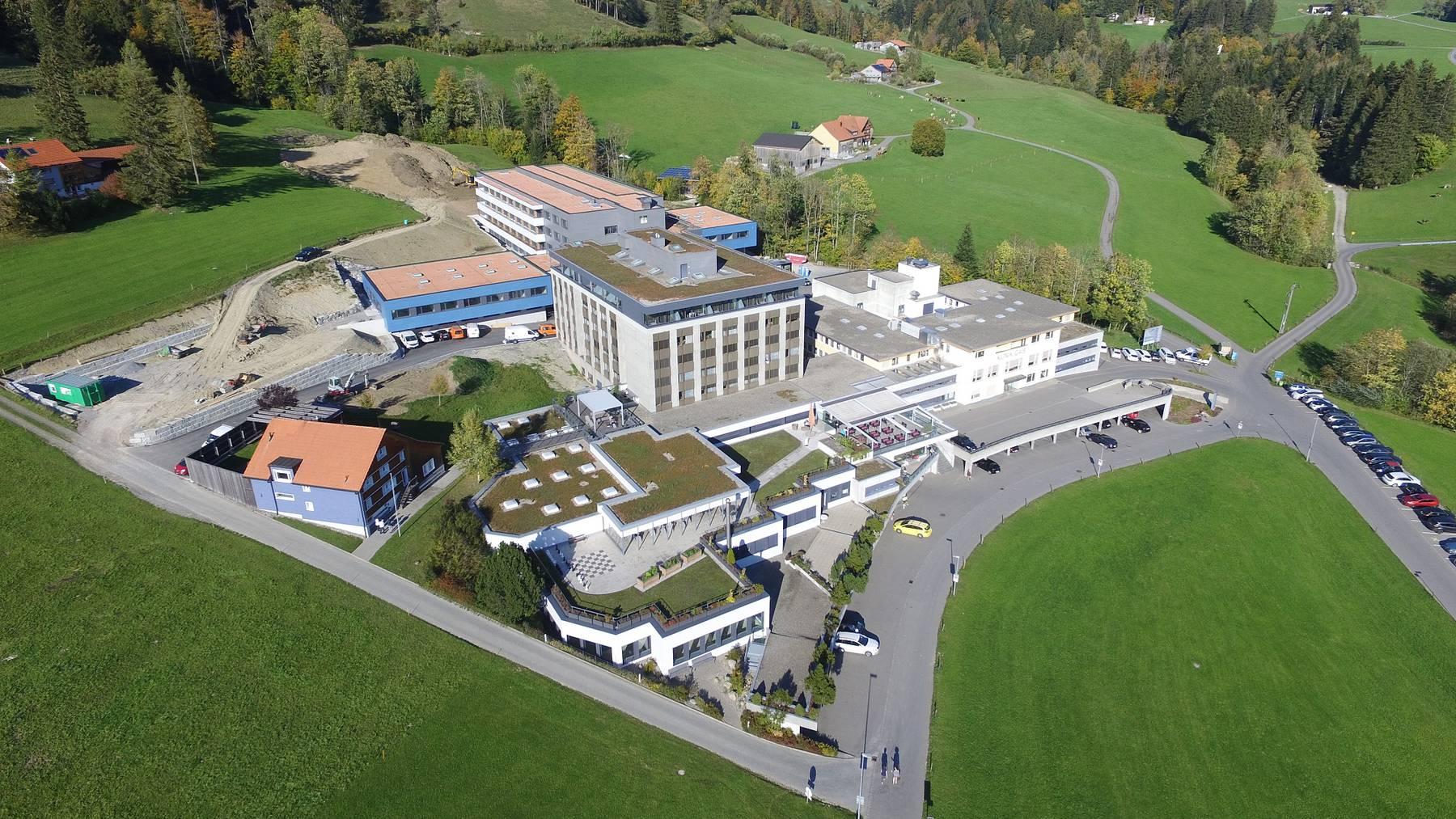 Luftaufnahme Klinik Gais