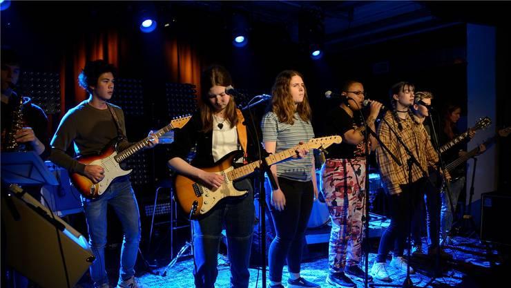 Im Rahmen des Bluesfestivals Baden präsentierten die «BluesKidz» ihre neuen, selbst geschriebenen Songs.