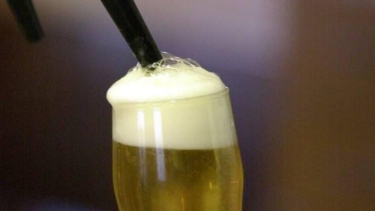 Eine Stange Bier für die Gastronomie.