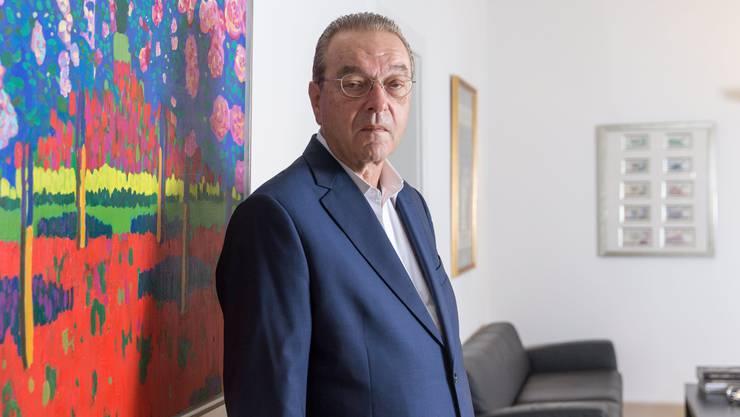 Der ehemalige CS und UBS-Chef Oswald Grübel aufgenommen in seinem Büro an der Börsenstrasse in Zürich. 12. September 2018.