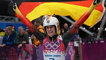 Natalie Geisenberger holt mit der Staffel ihr zweites Olympia-Gold