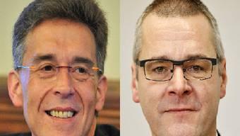 Disharmonische Beziehung: Verbandspräsident Rolf Späti (l.) und Diego Ochsner, Chef Amt für Militär und Bevölkerungsschutz (AMB).