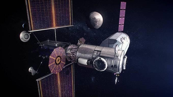 """Die Raumstation """"Gateway"""" soll ab 2024 den Mond umkreisen und als Zwischenstopp für bemannte Marsmissionen dienen."""