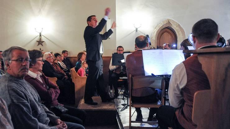 Zweitletzter Auftritt als Dirigent: Peter Hausammann am 2. Januar in Messen.