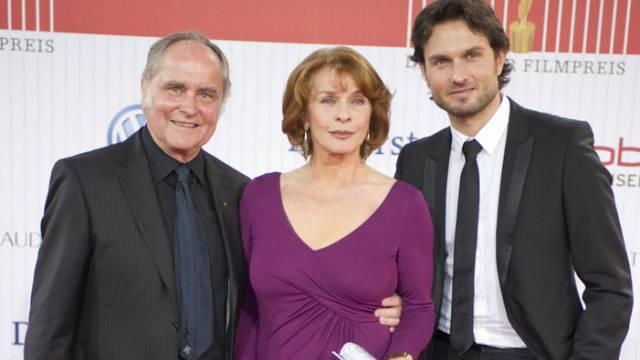 Senta Berger mit Ehemann Michael Verhoeven und Sohn Simon (Archiv)