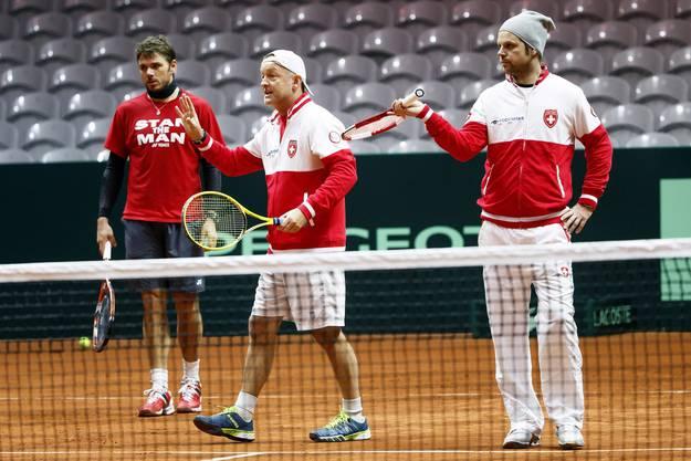 Das Training musste Roger Federer auslassen.