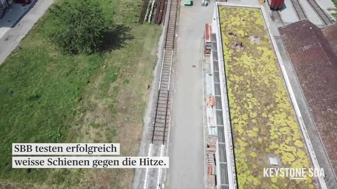 SBB: Weisse Schienen gegen Hitze funktionieren