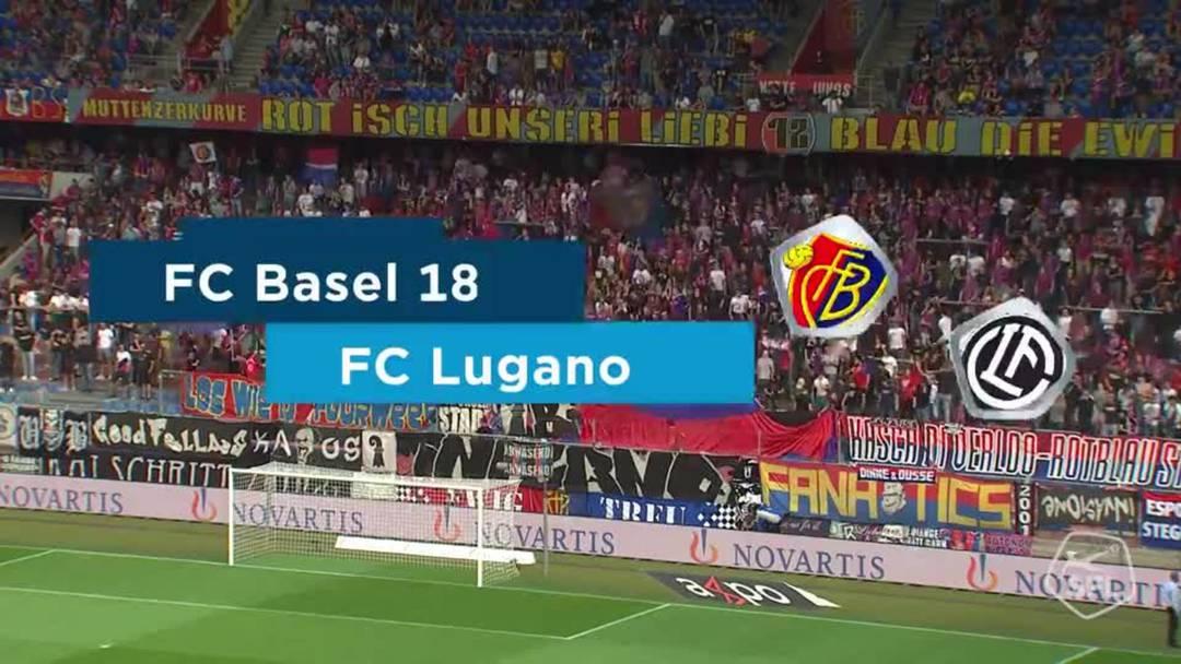 Alle Highlights der Partie: Basel gegen Lugano