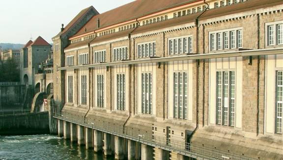 Das Rheinkraftwerk Laufenburg öffnet für Besucher seine Tore.