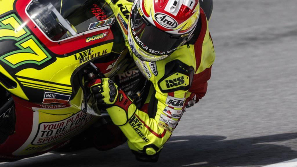 Dominique Aegerter bleibt der Moto2-WM erhalten