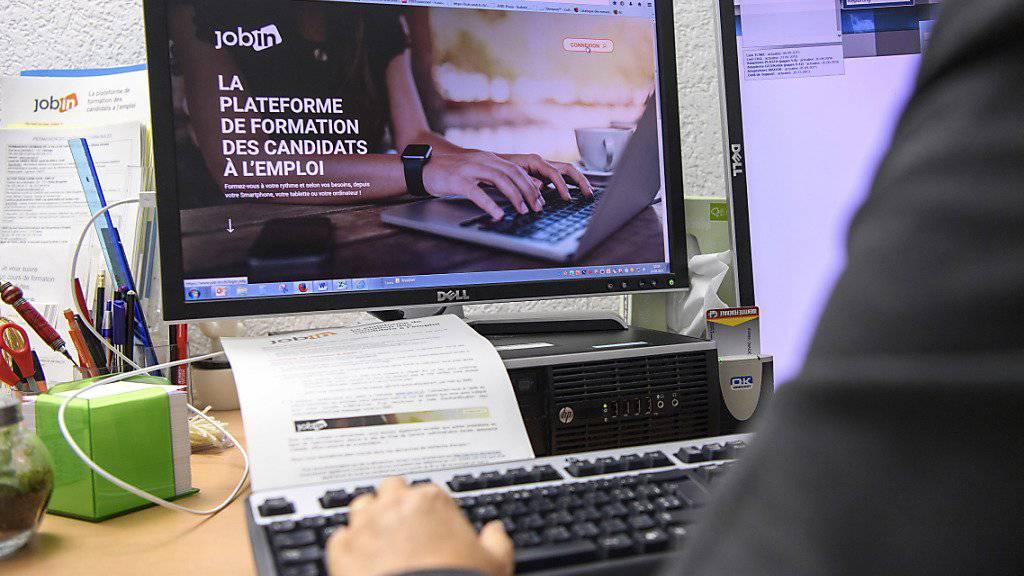 Genfer Stellensuchende sollen sich in Sachen Bewerbungen künftig über die Internet-Plattform JobIn schulen.