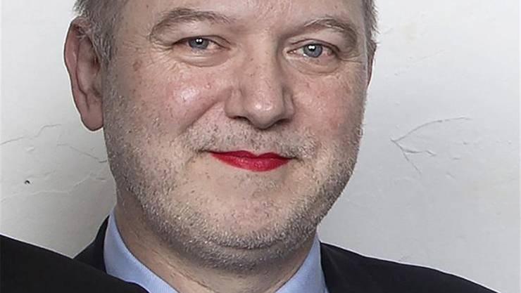 Denis Baupin mit roten Lippen.HO