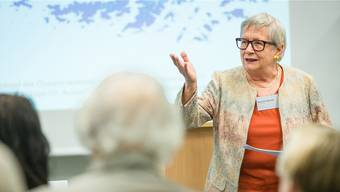 Stéphanie Mörikofer, alt Regierungsrätin und Mitglied von F-Info.ch, brachte Klimaexperten ins Naturama Aargau.