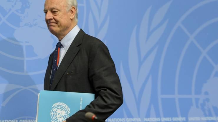 Der UNO-Sondergesandte für Syrien, Staffan de Mistura (Archiv)