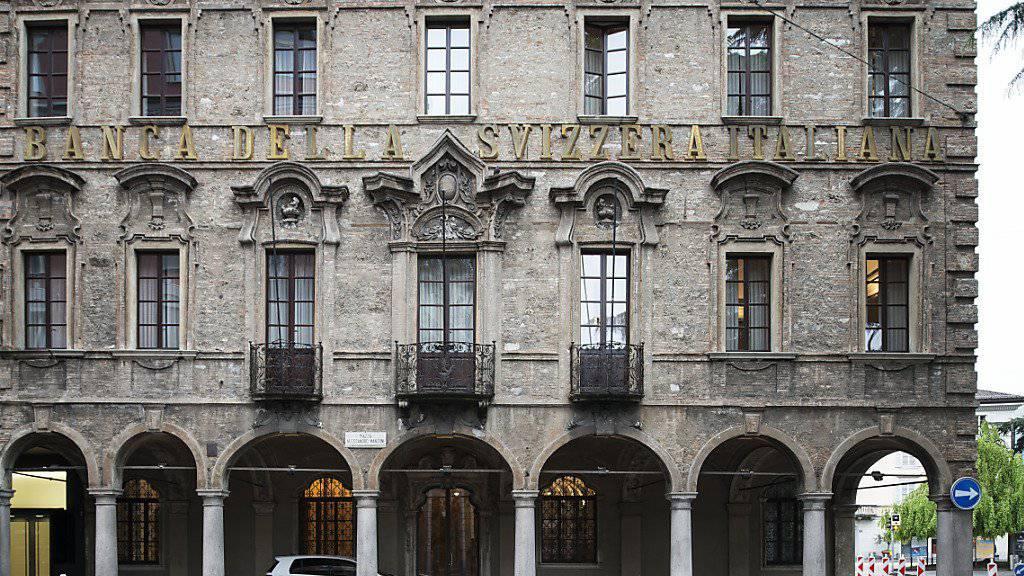 Sitz der BSI in Lugano. Die Tessiner Privatbank hat gegen den Finma-Entscheid Beschwerde eingelegt. (Archivbild)