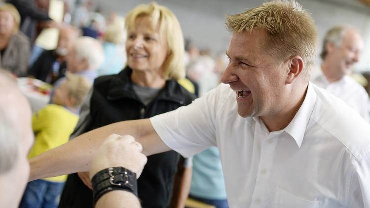Toni Brunner bei der Bundesfeier in Rümlang ZH.
