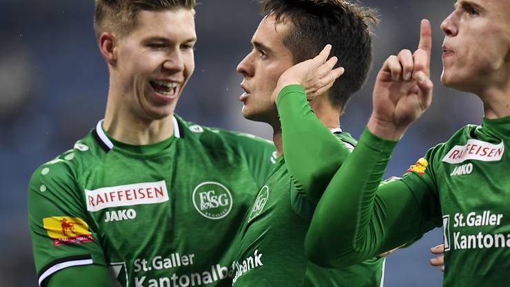 Jubel in der Ostschweizer: Auch der FC St. Gallen mischt an der Spitze der Super League mit