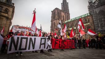 2014 demonstrierten Elsässer in Strassburg gegen den Zusammenschluss ihrer Region mit der Région Grand Est – vergeblich.