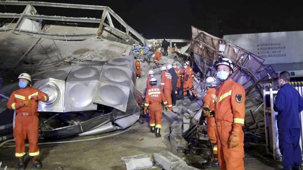 Mindestens vier Tote bei Einsturz von Hotel in Chinas