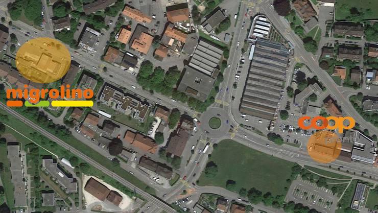 Migrolino und Coop-Pronto sind an der Bielstrasse nicht weit entfernt.
