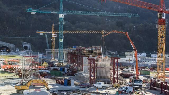 Die Baustelle vor der Tunneleinfahrt (Archivbild)