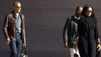 Mr. Cool: Barack und Michelle Obama nach dem Besuch der National Gallery of Art am 5. März 2017.