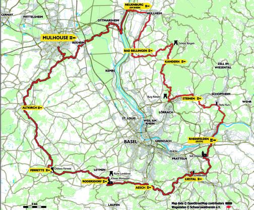 Der Wanderweg umfasst elf Etappen und ist 210 Kilometer lang.