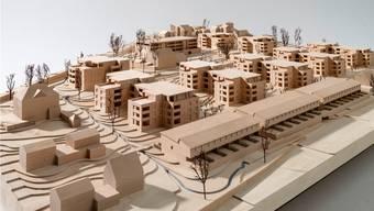 Ein Modell der Überbauung Baumgarten im Küttiger Dorfteil Rombach. Sie soll bis zu 500 neue Einwohner fassen.