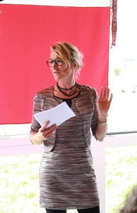 Regierungsrätin Susanne Hochuli hielt eine spannende Ansprache.