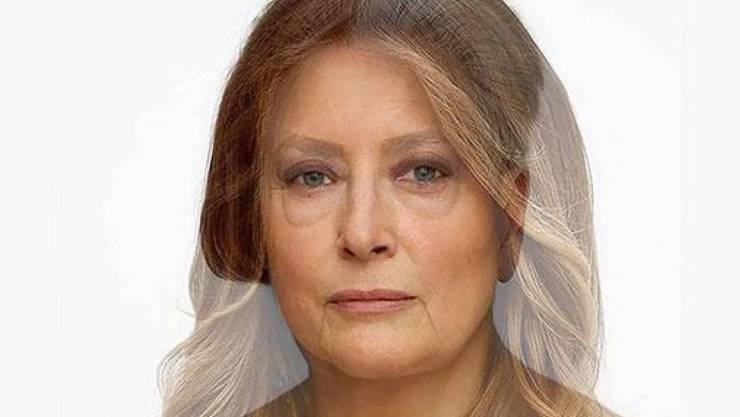 """Die Künstlerin Martha Wilson verschmelzt mittels eines Computerprogramms ihre Gesichtszüge mit denen von First Ladies. Hier die Version """"Makeover: Melania"""". (Pressebild)"""