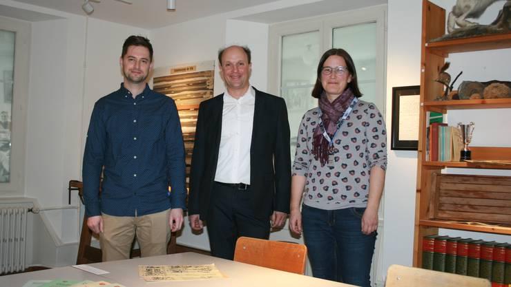 Von links: Alain Schelling, Reto Kohli und Angela Kummer.