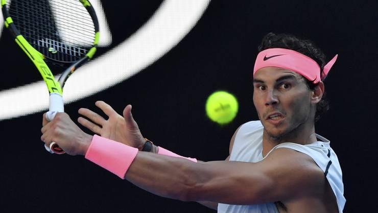 Der Vorjahresfinalist Rafael Nadal gab in Melbourne bislang noch keinen Satz ab
