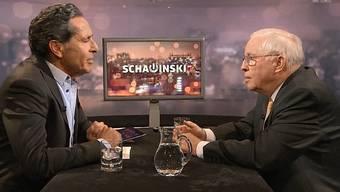 Roger Schawinski bittet Christoph Blocher zum Gespräch.