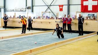 Das Halbfinale des Schweizer Cups fand in den Boccia-Hallen von Allschwil und Birsfelden statt.