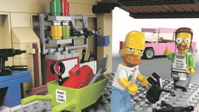 Auch die Figuren aus der Welt der Simpsons gibts bei Lego. Foto: ho