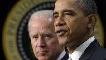 Barack Obama (v.) und Joe Biden (Archiv)