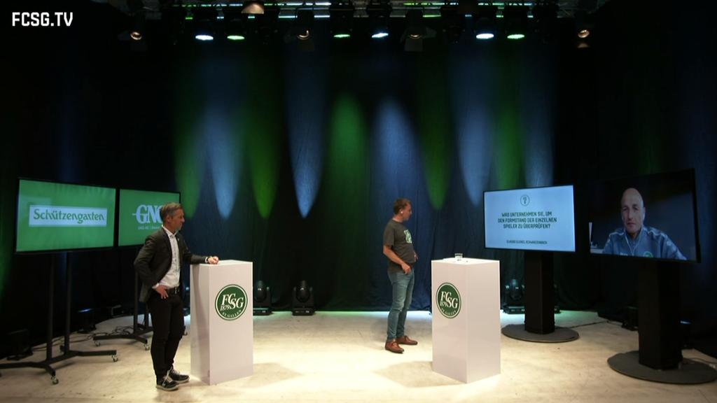 Hüppi, Zeidler und Hefti beantworten FCSG-Fan-Fragen