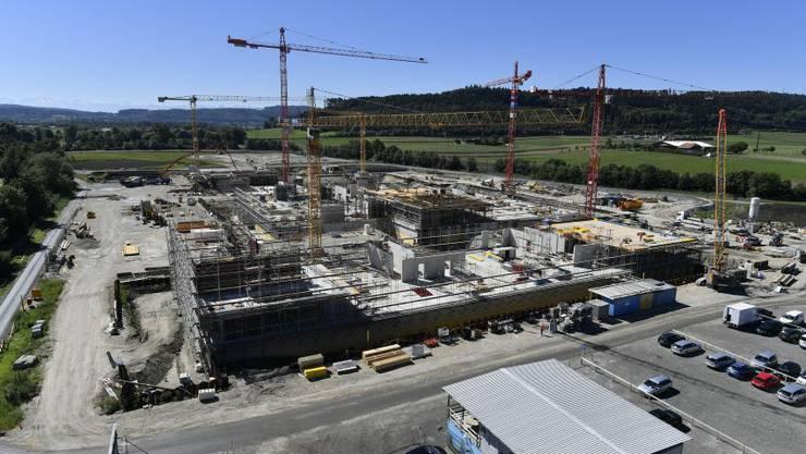 So sieht die Baustelle von CSL Behring in Lengnau heute aus
