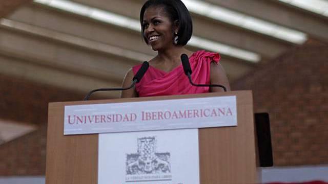 Die First Lady aus Washington während ihrer Rede in Mexiko-Stadt