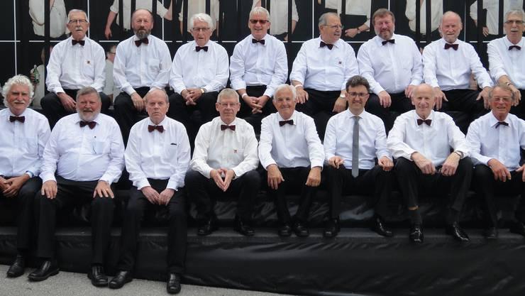 Männerchor Welschenrohr am Gesangfest in Hitzkirch