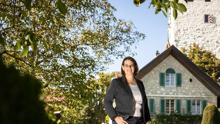 Der Lieblingsort von Regierungsratskandidatin Jeanine Glarner im Kanton Aargau: Schloss Wildegg.