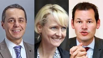 Ignazio Cassis, Isabelle Moret und Pierre Maudet
