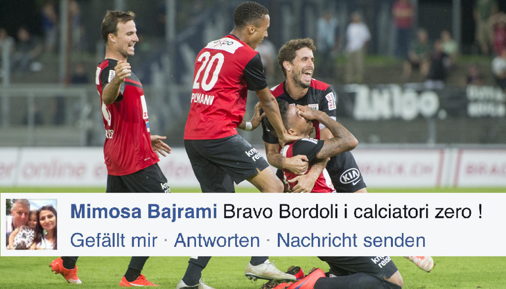 Die Lebenspartnerin von Livio Bordoli kritisierte die Spieler des FC Aarau via Facebook.