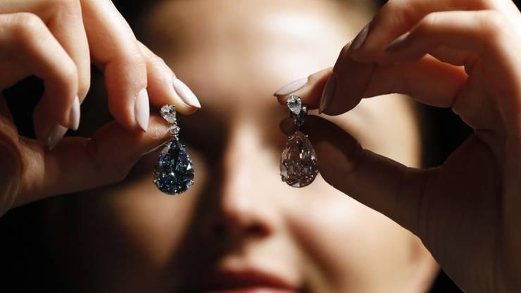 """In Genf sollen am 16. Mai 2017 Diamanten, so """"Apollo blue"""", in Millionenwert versteigert werden."""