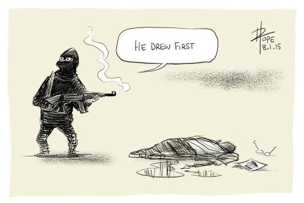 «Er hat zuerst gezeichnet.»