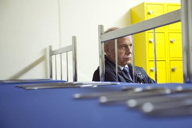 Ueli Maurer beim Kasernengespräch in Worb BE