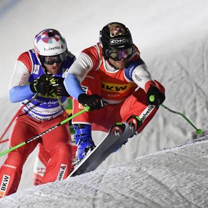 Jonas Lenherr (vorne) und Alex Fiva (hinten) lassen im Halbfinal nichts anbrennen und fahren vorne weg