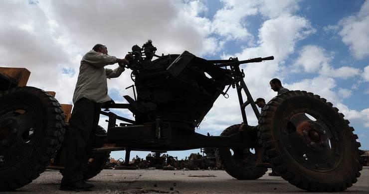 Schiess-Katapult der libyschen Aufständischen